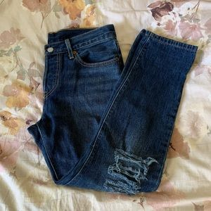 Destroyed Levi's 501's